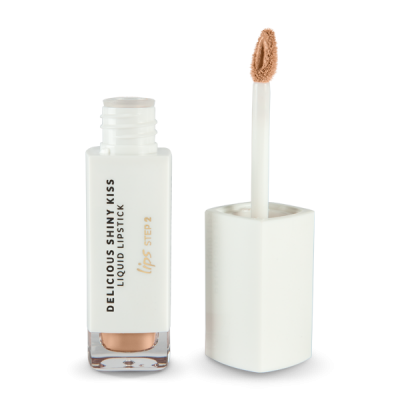 Delicious Shinny Kiss - Liquid Lipstick - Tan